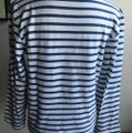 Saint James T Shirt white and deep sky blue stripe Image 2