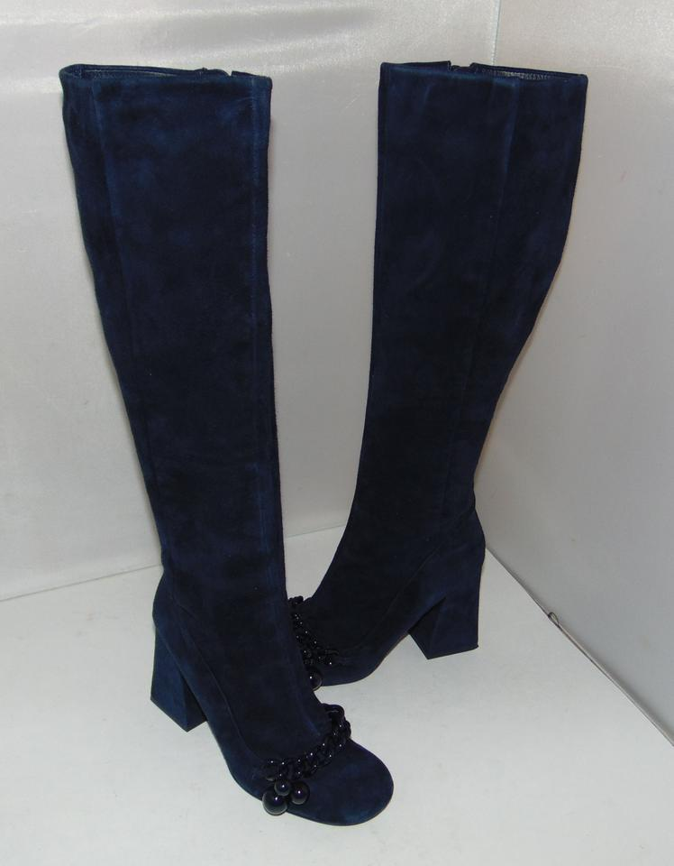 Boots Suede Tory Navy Burch Blue Addison Booties q1n7RSwz