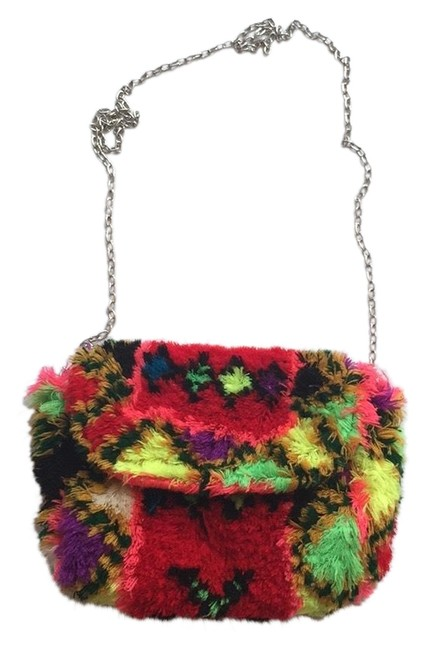 Item - Multi-colored Outer 41 Percent Acrylic 36 Percent Cottini Cotton 12 Percent Polyester 7 Percent Viscose Shoulder Bag