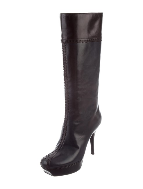 Item - Navy/Black Leather Boots/Booties Size EU 37.5 (Approx. US 7.5) Regular (M, B)
