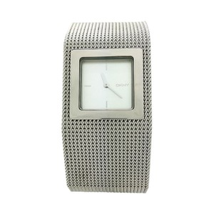 DKNY LADIES DKNY NY-4017 WIDE MESH SILVER BAND WATCH