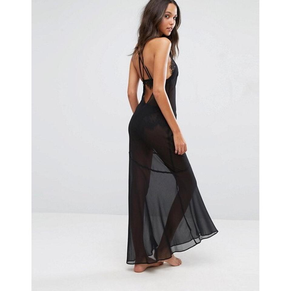 7314f74b04 ASOS Black Sheer Beach Cover Up Long Casual Maxi Dress Size 2 (XS) - Tradesy