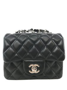 1a25150b5f4a Added to Shopping Bag. Chanel Shoulder Bag. Chanel Classic Flap Mini Square  Black Lambskin Leather ...