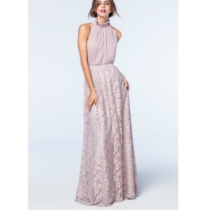 Watters Blush ( Looks More Like A Dusty Rose) Lace Acacia Skirt Feminine Bridesmaid/Mob Dress Size 10 (M)