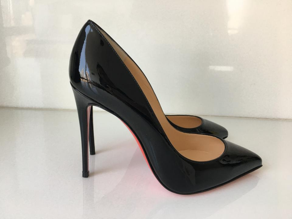Point Black Patent Pigalle toe Louboutin Shiny Follies Classic 100mm Christian Pumps Leather 5AqBxwzYYR