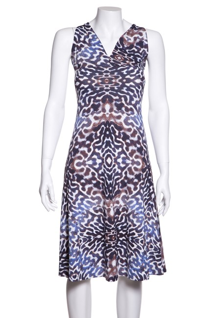 Preload https://img-static.tradesy.com/item/23816492/just-cavalli-blue-and-brown-stretch-printed-short-casual-dress-size-6-s-0-0-650-650.jpg