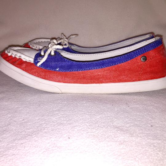 Mad Love cream, blue, red Flats Image 1