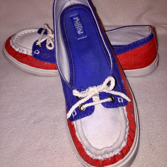 Mad Love cream, blue, red Flats Image 3