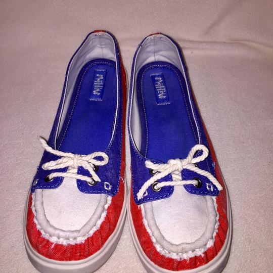Mad Love cream, blue, red Flats Image 6