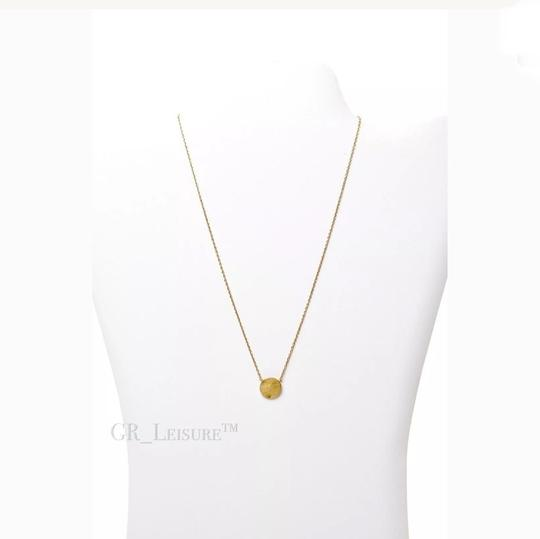 Nordstrom Nordstrom Delicate Circle Charm Brushed Gold Necklace Image 7