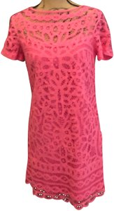 Lilly Pulitzer short dress Pink New With Tag Mariekate Battenburg Lace on Tradesy