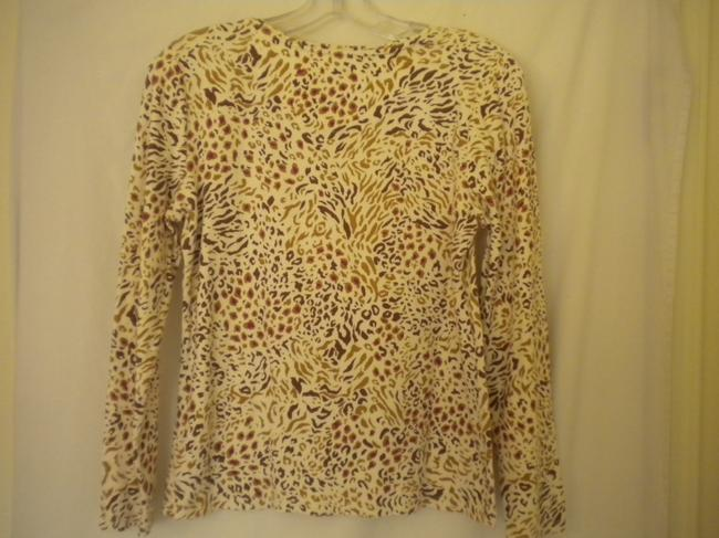 Charter Club Cotton Longsleeve Animal Print T Shirt Multi-Color Image 3
