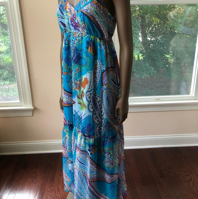 blue multi Maxi Dress by Planet Gold Image 1