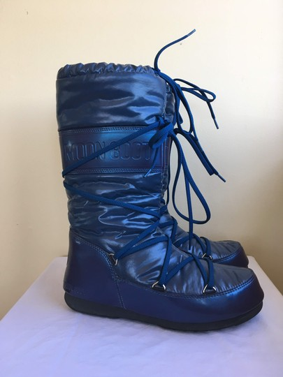 Tecnica Snow Moon Winter Down Warm Navy Blue Boots Image 2