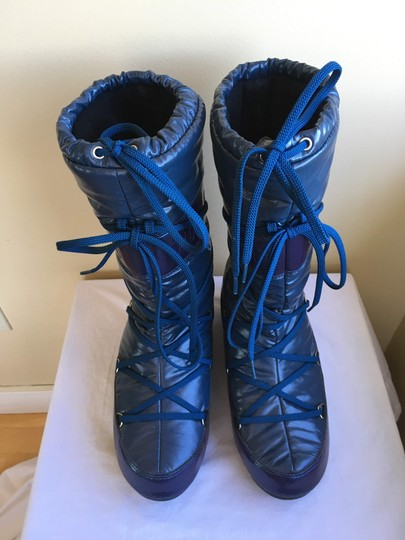Tecnica Snow Moon Winter Down Warm Navy Blue Boots Image 4