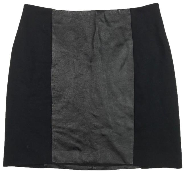 Preload https://img-static.tradesy.com/item/23816981/madewell-black-leather-paneled-casual-club-party-miniskirt-size-2-xs-26-0-1-650-650.jpg