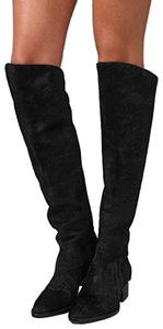 Alexander Wang Pony Over-the-knee Black Boots