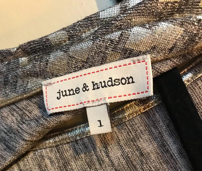 June & Hudson Polyester Top Metallic Gold Image 2