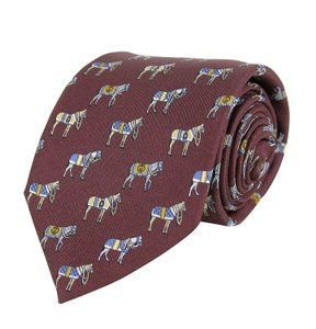 Gucci Red Silk with Horse and Belt Print 388148 6069 Tie/Bowtie