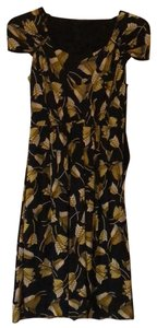 Gucci short dress black with yellow leaves on Tradesy
