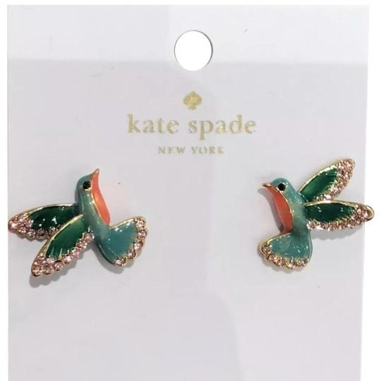 Kate Spade Kate Spade New York scenic route hummingbird earrings studs with dust bag. Image 0