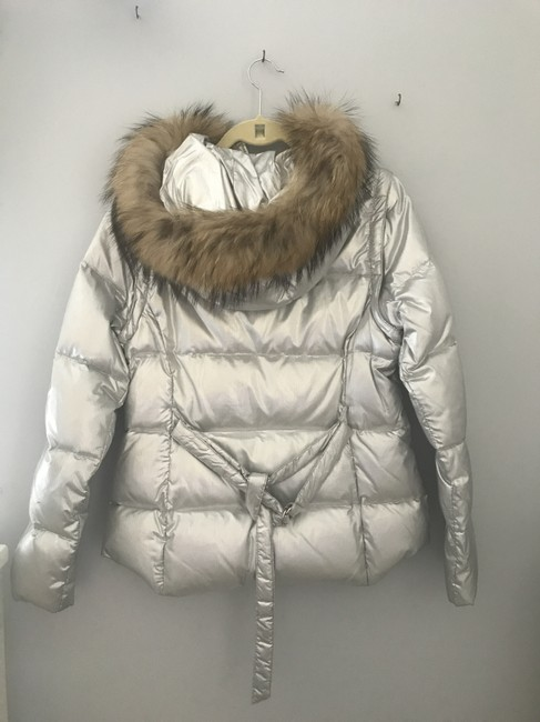 Andrew Marc Faux Fur Puffer Jacket Lined Goose Down Feathers Coat Image 1
