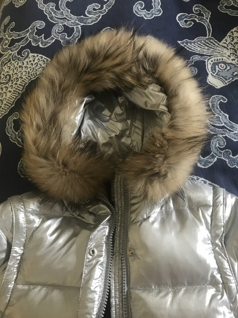 Andrew Marc Faux Fur Puffer Jacket Lined Goose Down Feathers Coat Image 4
