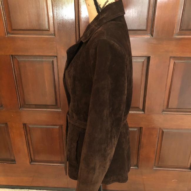Wilsons Leather Suede Tie Lined Brown Leather Jacket Image 1