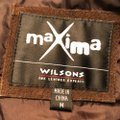 Wilsons Leather Suede Tie Lined Brown Leather Jacket Image 3