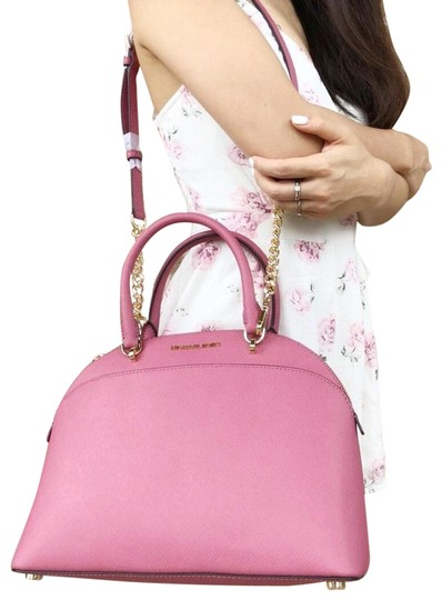 Preload https://item2.tradesy.com/images/michael-kors-emmy-large-cindy-dome-tulip-pink-leather-satchel-23818086-0-1.jpg?width=440&height=440