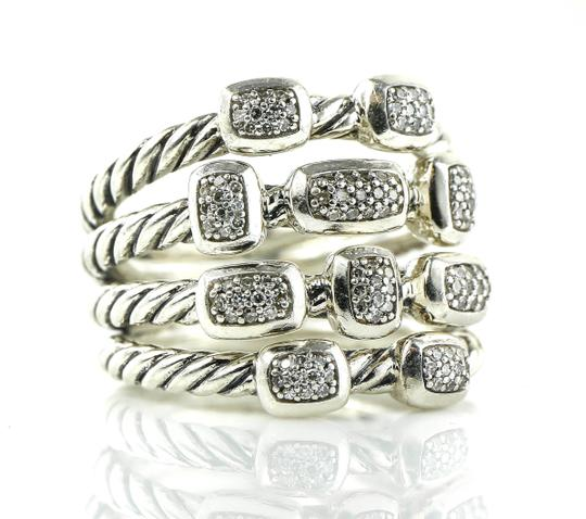 Preload https://item2.tradesy.com/images/david-yurman-sterling-silver-four-row-confetti-diamonds-ring-23818136-0-0.jpg?width=440&height=440