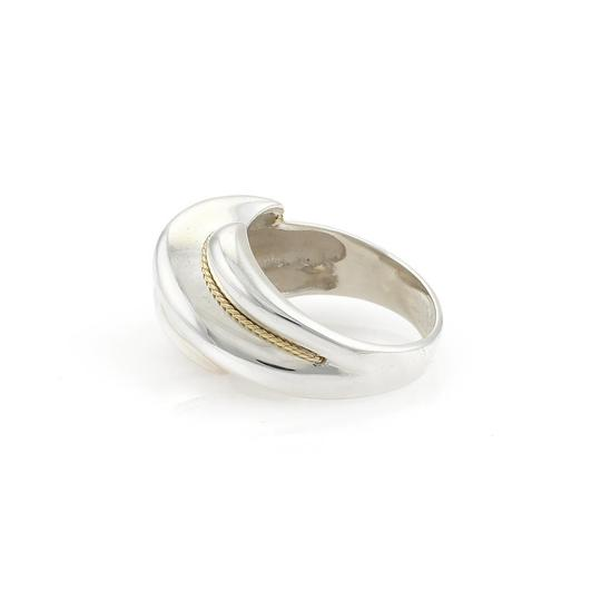 Tiffany & Co. Sterling Silver 18k Yellow Gold Shrimp Style Ring
