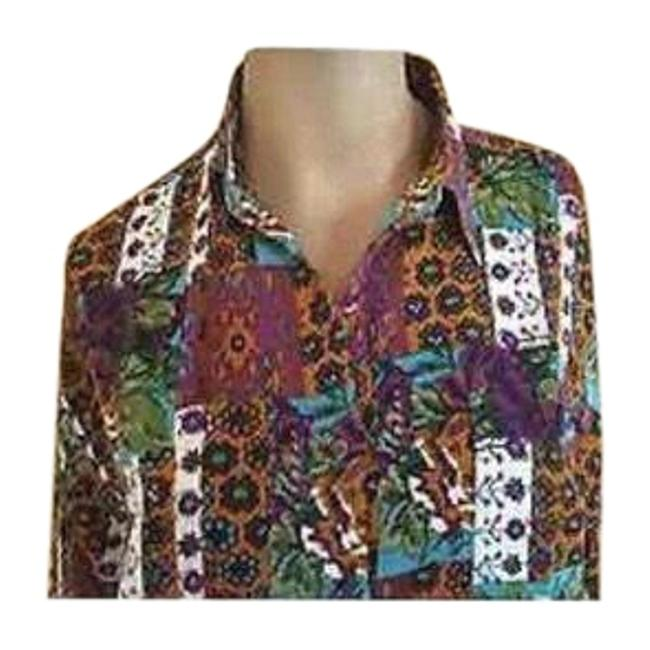 Preload https://item2.tradesy.com/images/mixed-women-s-lg-color-long-blouse-button-down-top-size-14-l-23818171-0-1.jpg?width=400&height=650