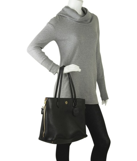 Tory Burch Leather Tote in Black Image 1