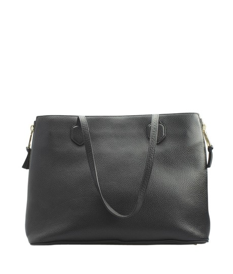 Tory Burch Leather Tote in Black Image 4