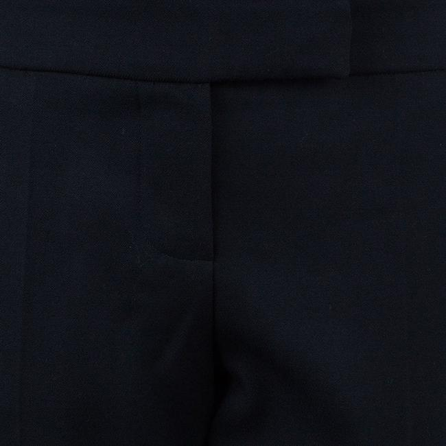 Chloé Embroidered Silk Wool Trouser Pants Black