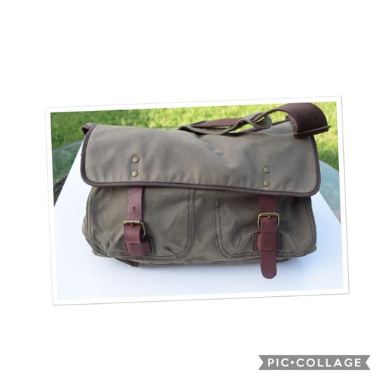 J.Crew khaki Messenger Bag