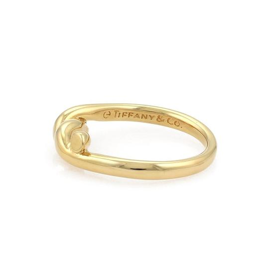 Tiffany & Co. Vintage 18k Yellow Gold Twist Rope Design Band Ring