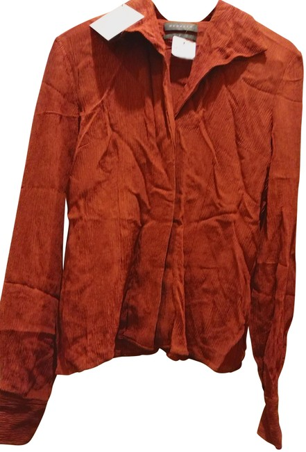 Preload https://item1.tradesy.com/images/hensely-burnt-orange-made-in-la-shawl-collar-with-tie-blouse-size-6-s-23818235-0-1.jpg?width=400&height=650