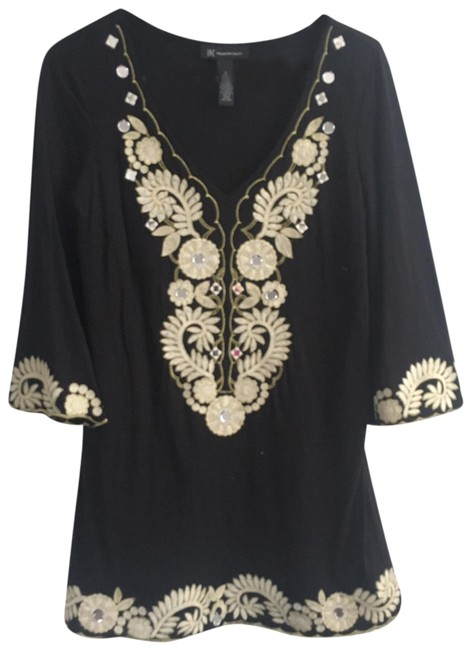 Preload https://item2.tradesy.com/images/inc-international-concepts-black-mirror-embroidered-tunic-size-8-m-23818236-0-1.jpg?width=400&height=650