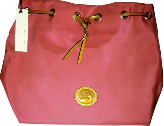 Dooney & Bourke Katie Nylon New Drawstring Tote in Hot Pink
