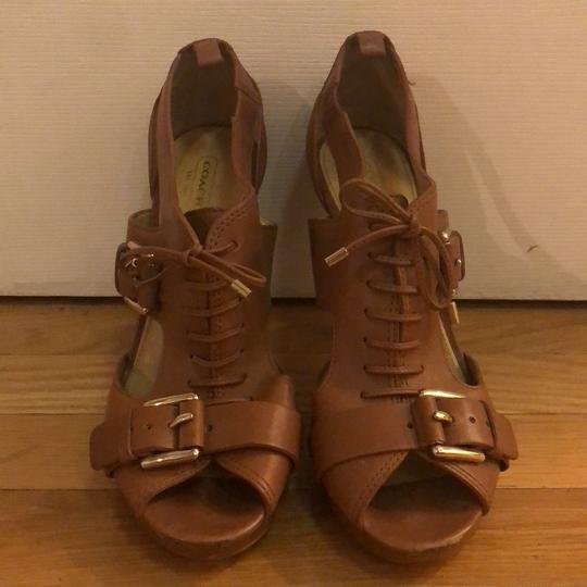 Coach saddle brown Platforms