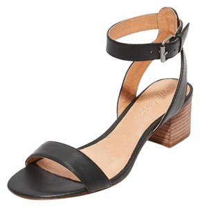 Madewell Leather Heeled Alice Black Sandals