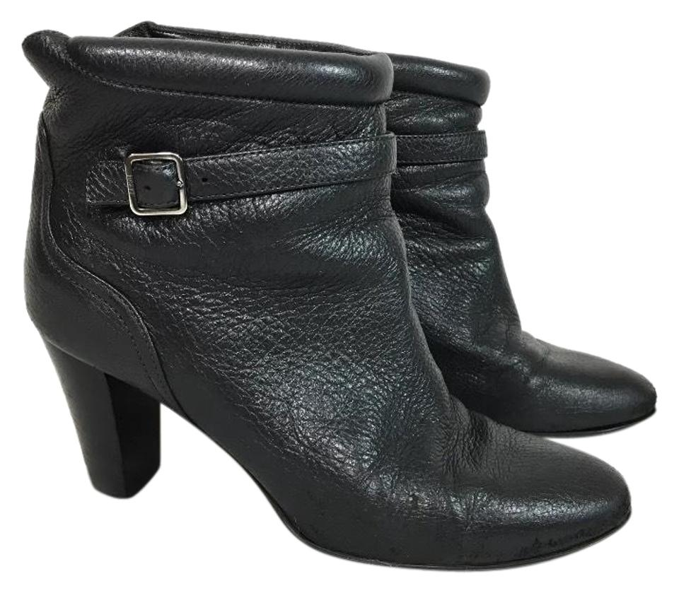 Bally Black Toriko Leather Ankle Buckle Slip On Boots Booties Size ... 1f20883ef3