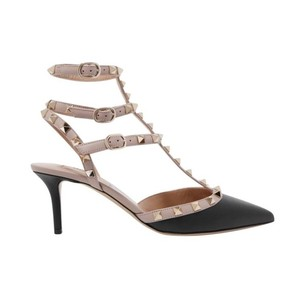 Valentino Rockstud Noir Poudre Smooth Calf Kitten black Pumps
