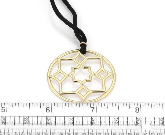 Tiffany & Co. Picasso Zellige 18k YGold Large Round Pendant Cord Necklace
