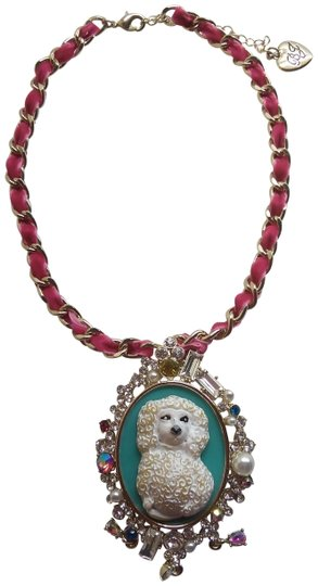 Preload https://img-static.tradesy.com/item/23818309/betsey-johnson-hot-pink-new-poodle-cameo-necklace-0-1-540-540.jpg