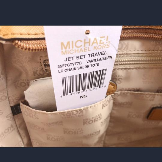 Michael Kors Jet Set Chain Shoulder New With Tag Tote in Vanilla