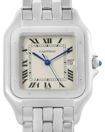 Preload https://item3.tradesy.com/images/cartier-silvered-panthere-jumbo-stainless-steel-unisex-w25032p5-watch-23818327-0-1.jpg?width=440&height=440