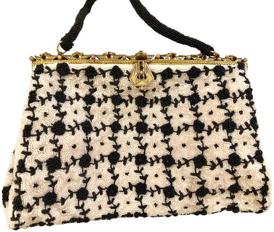 Preload https://item5.tradesy.com/images/vintage-50-s-purse-for-the-true-collector-black-and-white-bead-metal-stones-tote-23818349-0-1.jpg?width=440&height=440